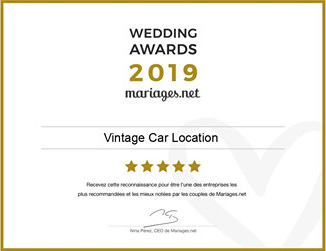 Vintage Car Location, gagnant Wedding Awards 2019 Mariages.net